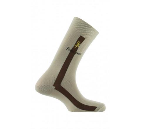 Chaussettes Lézard brodé en coton
