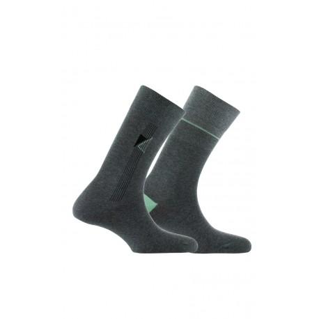 Lot de 2 paires de chaussettes fantaisies Made in France