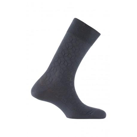 Chaussettes fantaisies fabriquées en France en fil d'écosse