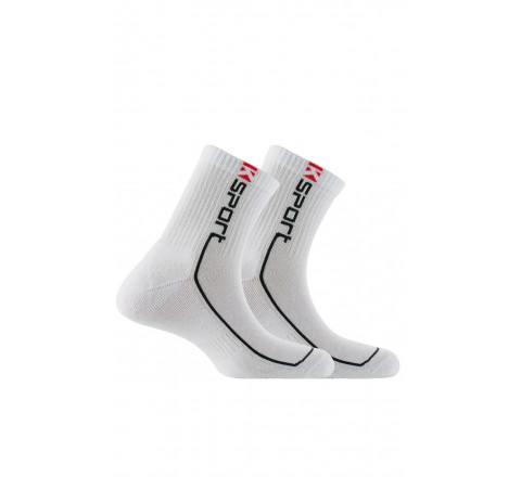 Pack de 2 paires de chaussettes tiges courtes K-sport