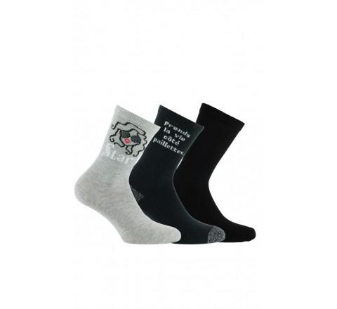 Lot de 3 paires de chaussettes de Star en coton