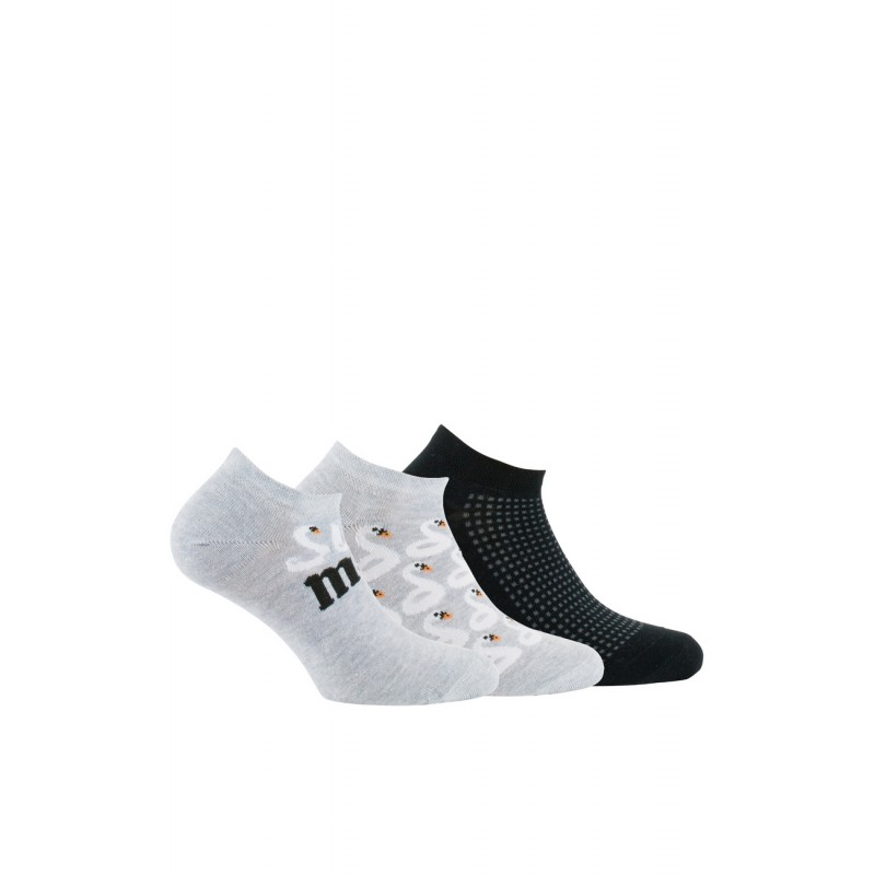 Kindy Femme :Lot de 3 paires de chaussettes invisibles