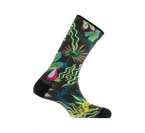 Chaussettes imprimées motif Jungle en coton