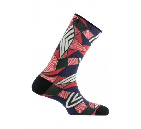 Chaussettes imprimées motif Wax en coton