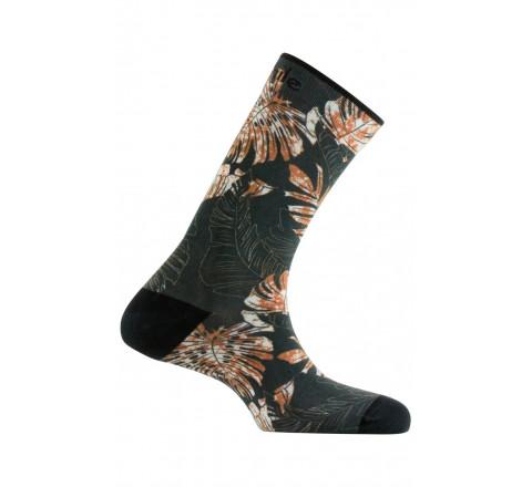 Chaussettes imprimées motif Végétal en coton
