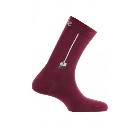 Mi-chaussettes motif Connexion en coton