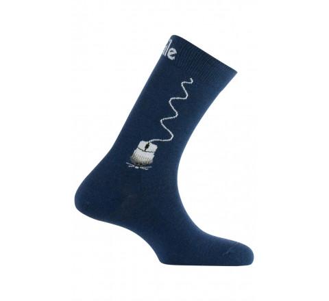 Mi-chaussettes motif Mouse en coton