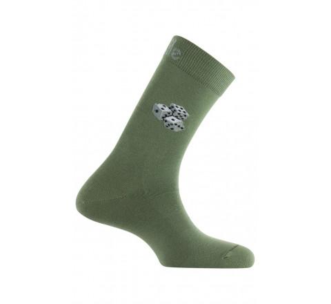 Mi-chaussettes motif Le 421 en coton