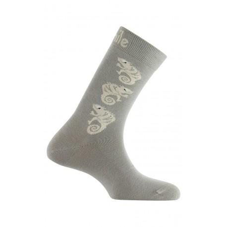 Mi-chaussettes Caméléons en coton