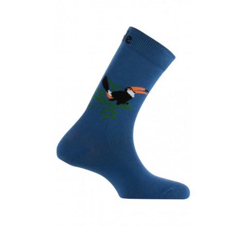 Mi-chaussettes Toucan en coton