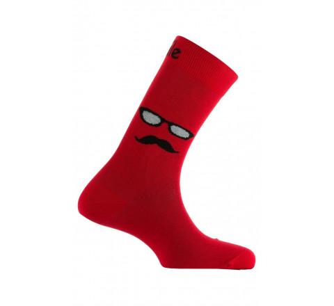 Mi-chaussettes Monsieur Moustache en coton