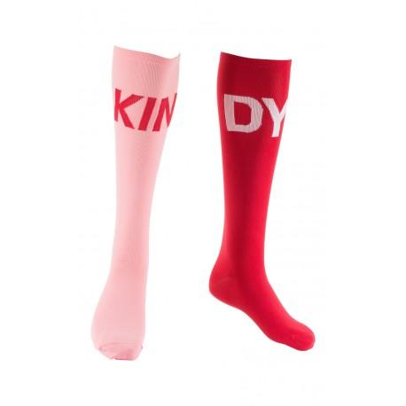 Chaussettes hautes dépareillées Color Block
