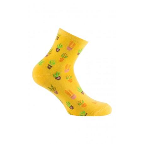 Socquettes fantaisies printanières cactus