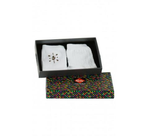 Coffret cadeau de 2 paires de chaussettes bijoux