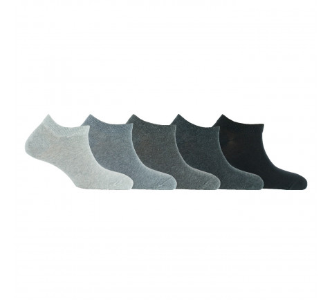 Lot de 5 paires d'invisibles camaïeux en coton