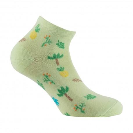 Chaussettes ultra-courtes botanique