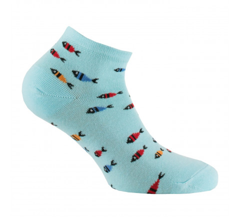 Chaussettes ultra-courtes all over poissons