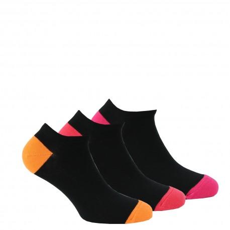 Chaussettes invisibles en coton vendues en lot de 3 paires
