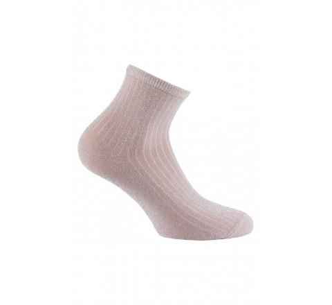 Socquettes côtes pailletées