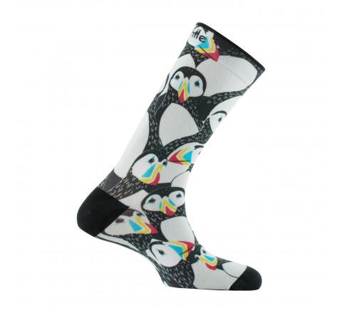 Chaussettes imprimées motif pingouins en coton