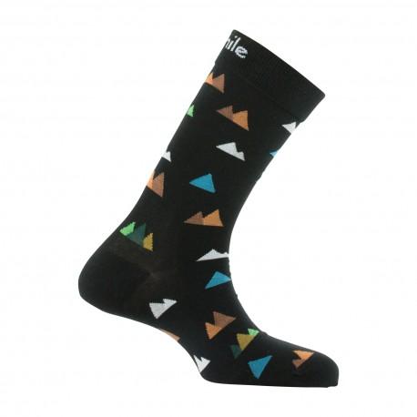 Mi-chaussettes motifs sommets en coton
