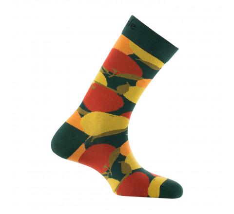 Mi-chaussettes motifs multifruits en coton