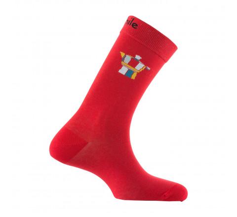 Mi-chaussettes motif cafetière Moka en coton