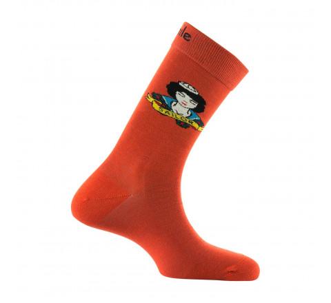 Mi-chaussettes motif Tatoo Sailor en coton