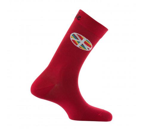 Mi-chaussettes motif symbole Peace & Love en coton