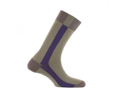 Mi-chaussettes baguette coton fabriquées en France