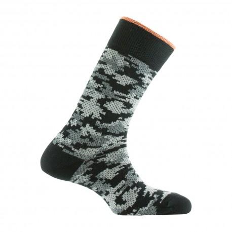 Mi-chaussettes style camouflage en coton