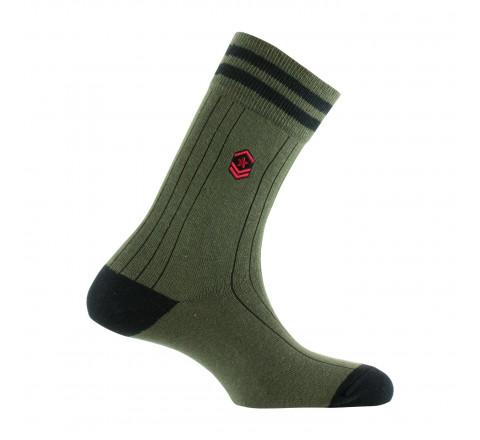 Mi-chaussettes surbroderie écusson