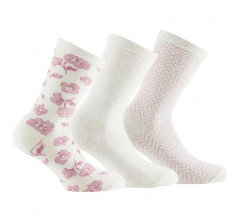 Lot de 3 paires de chaussettes féminines en coton