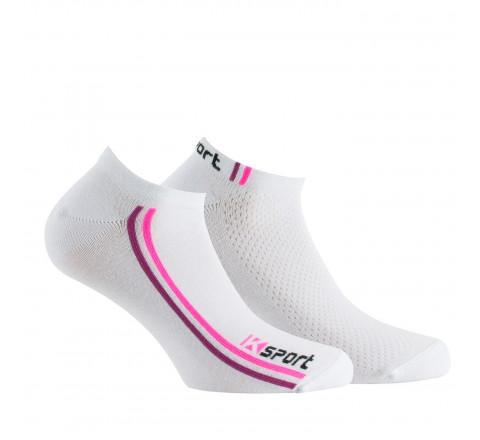 Lot de 2 paires de socquettes invisibles sport