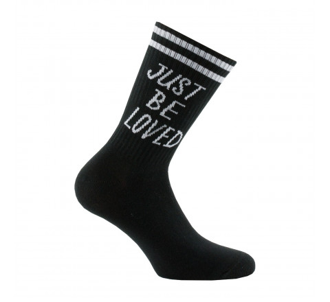 "Chaussettes message ""Just be loved"" en coton"
