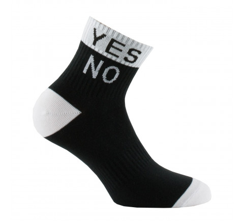 "Socquettes message ""Yes No"" en coton"
