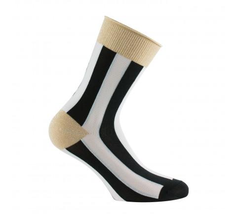 Socquettes rayures et Lurex