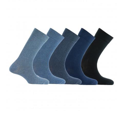 Lot de 5 paires de chaussettes camaïeux en coton
