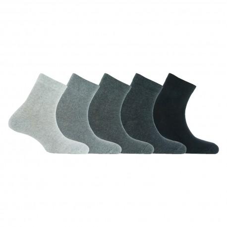 Lot de 5 paires de socquettes camaïeux en coton