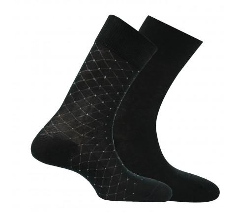 Chaussettes en fil d'écosse vendues en lot de 2 paires