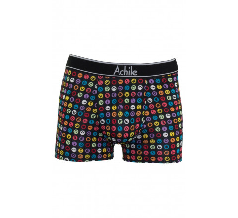 Boxer icônes smiley en microfibre - Gamme Homewear