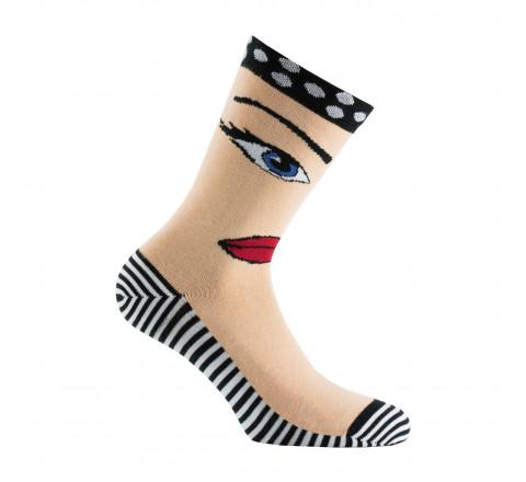 Chaussettes visage de Marilyn coton