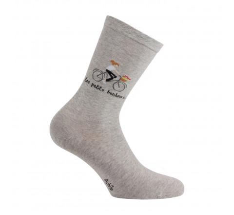 Mi-chaussettes Petits Bonheurs en coton