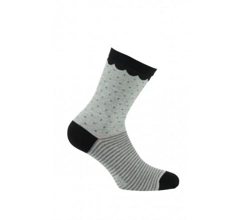 Mi-chaussettes modèle Sidonie en coton
