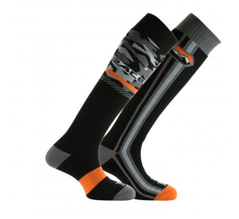 Lot de 2 paires de mi-bas ski acrylique et laine