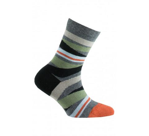 Chaussettes rayures en coton