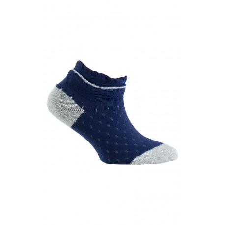 Chaussettes ultra-courtes mailles fantaisies en coton