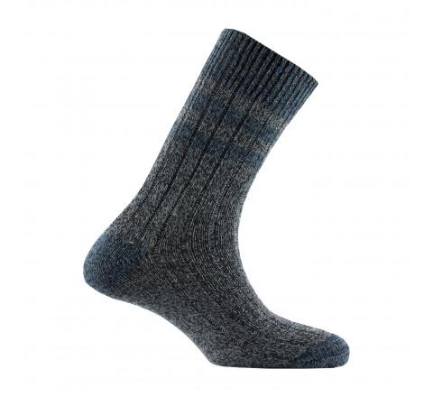 Chaussettes chinées à côtes