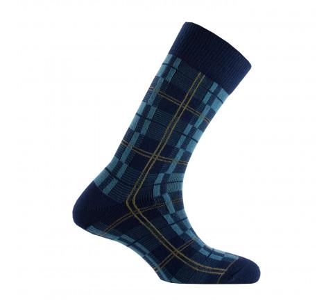 Chaussettes carreaux acrylique et laine