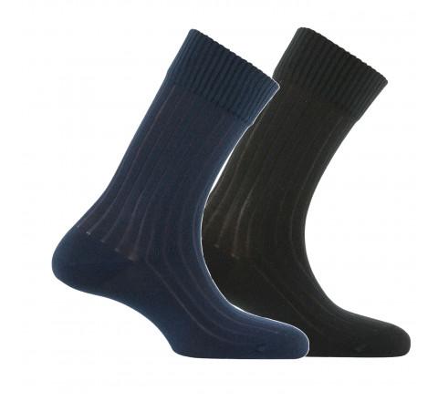 Chaussettes en fil recyclé Green Socks vendues en lot de 2 paires